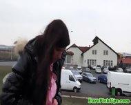 Pervert Demandes Brunette To Pull Her Panties Down Outdoor - scene 2