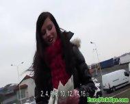 Pervert Demandes Brunette To Pull Her Panties Down Outdoor - scene 5