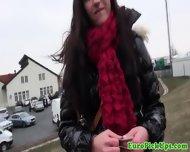 Pervert Demandes Brunette To Pull Her Panties Down Outdoor - scene 6