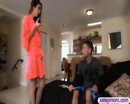 Teen Schoolgirl Caught Her Stepmom Sucking Off Her Bfs Cock - scene 2
