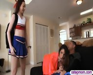Teen Schoolgirl Caught Her Stepmom Sucking Off Her Bfs Cock - scene 6