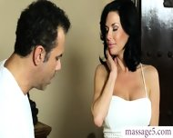 Busty Brunette Milf Squirts And Gets Anal Fucked At The Spa - scene 1