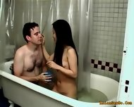 Horny Couple Getting Hotter With Each Minute Of Bath - scene 1