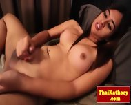 Sensual Thai Shemale Eagerly Wanks Off - scene 8