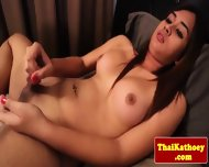 Sensual Thai Shemale Eagerly Wanks Off - scene 9