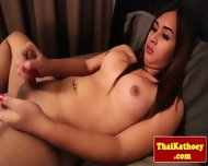Sensual Thai Shemale Eagerly Wanks Off - scene 11