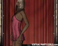 3d Animated Stripper In Cute Pink Panties - scene 1