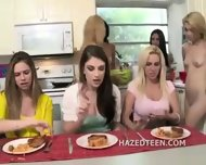 Lesbians In College Haze Straight Girls - scene 3