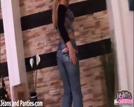 Tight And Busty Blonde Sabine In Skinny Jeans - scene 1
