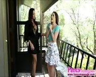 Beautiful Brunette Lola Foxx Gets A Good Massage From Abigail - scene 2