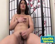 Asian Tgirl Lisa Long Toying Her Ass - scene 6