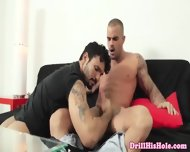 Unmerciful Gay Top Giving Kinky Rim Session - scene 2