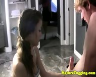 Mature Bigtit Milf Teaching Teen To Tug - scene 2