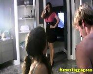 Mature Bigtit Milf Teaching Teen To Tug - scene 3