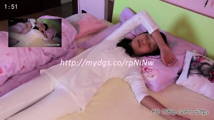 Teenage Girl Masturbating Hidden Cam Alone in Bed