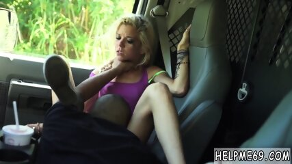 Strangled extreme Halle Von is in town on vacation with her boyplaymate.