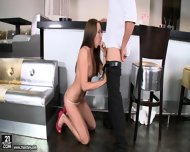 Glamorous Babe Rides Dick In The Bar - scene 3