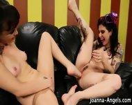 Lesbian Goths Feet Fuck - scene 8