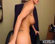 Hottie Masturbating With Huge Dildo - scene 10