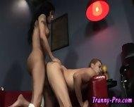 Busty Tgirl Hooker Slams - scene 1