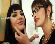 Extreme Lesbian Babes Dildoing Ass Cunts - scene 1