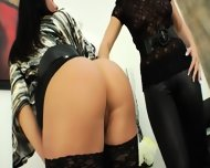 Extreme Lesbian Babes Dildoing Ass Cunts - scene 3
