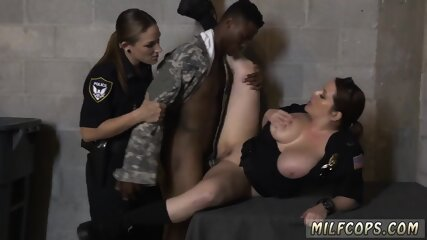 Ebony milf seduces girl Fake Soldier Gets Used as a Fuck Toy