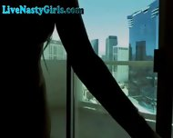 Stunning Webcam Girl Plays In Hotel - scene 4