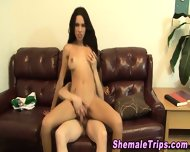 Tranny Cums In Guys Mouth - scene 11