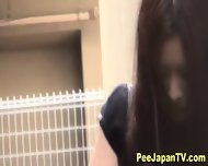 Hot Asians Public Pissing - scene 11