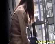 Hot Asians Public Pissing - scene 3