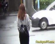 Hot Asians Public Pissing - scene 5