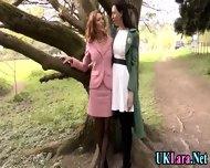 Old Lesbian Brit Fingers - scene 2