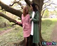 Old Lesbian Brit Fingers - scene 4
