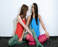 Hairy Lesbians In Nylon Lingerie Loving - scene 2