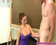 Young Amateur Milf Tits Jizz Drenched - scene 1