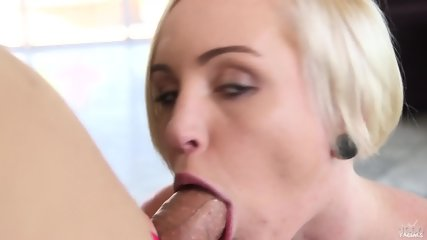 Charming Blonde With Jizz On Face - scene 10