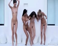 Four Incredible Girlsongirls Pleasuring Together - scene 9