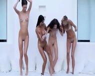 Four Incredible Girlsongirls Pleasuring Together - scene 9