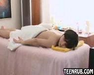 Sexy Amateur Brunette Teen Babe Getting A Massage - scene 6
