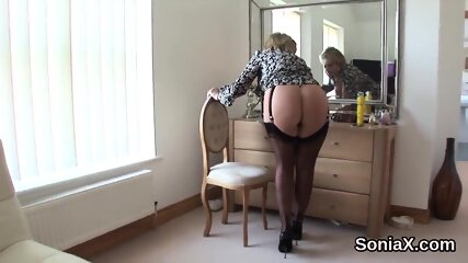 Adulterous british milf lady sonia showcases her monster tits
