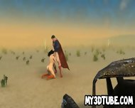 3d Wonder Woman Sucks Cock And Gets Fucked Outdoors - scene 3