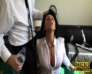 Real busty milf gets pounded