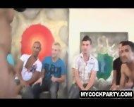 Group Of Guys Having A Private Male Stripper Party - scene 6