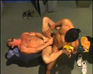 2 Studs Fucking In Locker Rooms Pacific Sun - scene 9