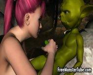 3d Redhead Babe Sucking Yoda S Hard Cock In The Woods - scene 12