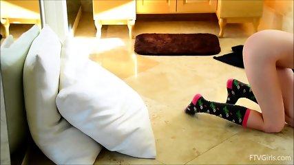 Amazing Pussy Stimulation By Horny Brunette - scene 1