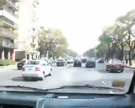 Threeway Action In The Van Latin Hot - scene 1