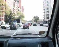 Threeway Action In The Van Latin Hot - scene 3