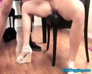 Handjob Loving Brunette Toying With Dick - scene 7